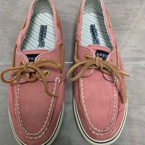 Sperry Topsider Pink Canvas Boat Shoes